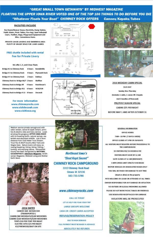 Chimney Rock Campground Map